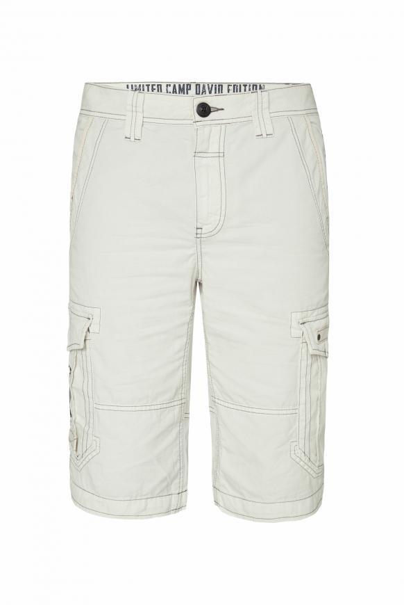 Cargo Shorts mit kleinen Label-Applikationen kitt