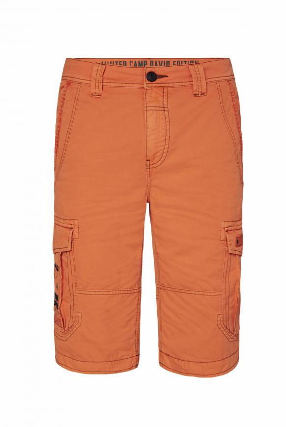 Cargo Shorts mit kleinen Label-Applikationen sunstone