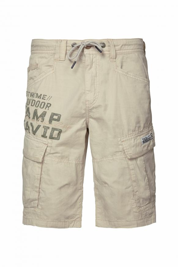 Cargo Shorts mit Logo-Applikationen paperbark