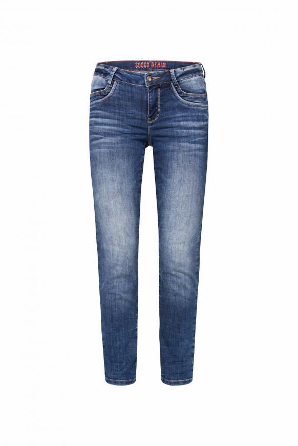 Comfort Fit Jeans CH:AR mit Used-Optik blue used