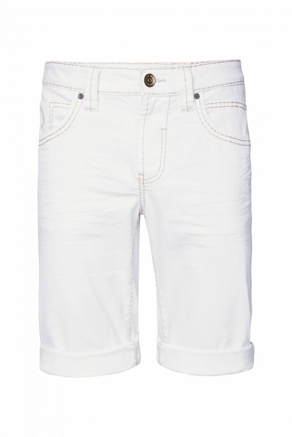 DA:VD Skater Jeansshorts mit breiten Nähten white