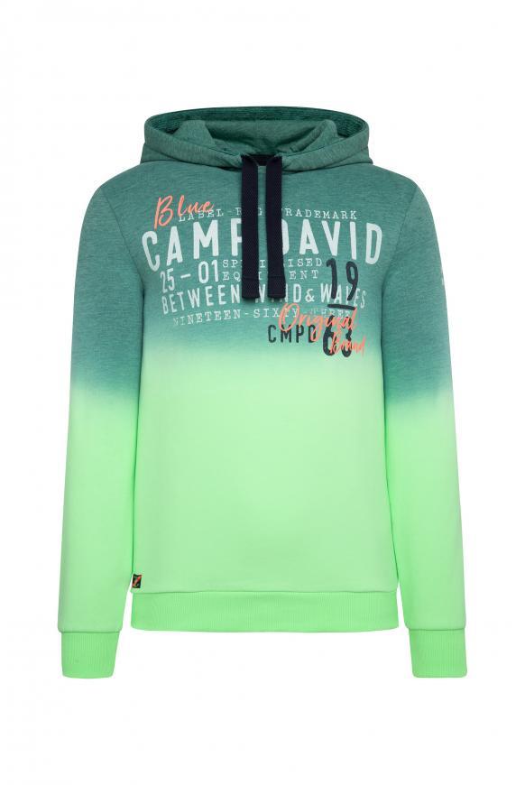 Dip Dye Hoodie mit Label Prints neon green