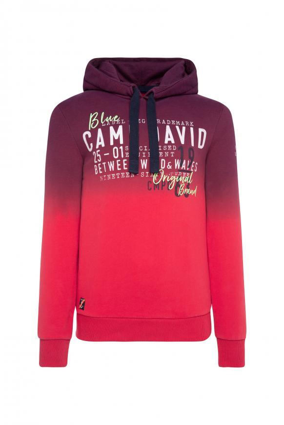 Dip Dye Hoodie mit Label Prints speed red