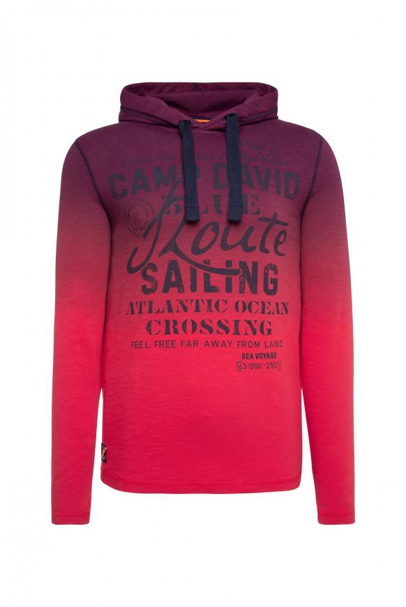 Dip Dye Kapuzenshirt mit Label Print speed red
