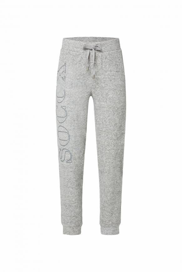Fleece-Jogger mit Glitter Prints grey melange