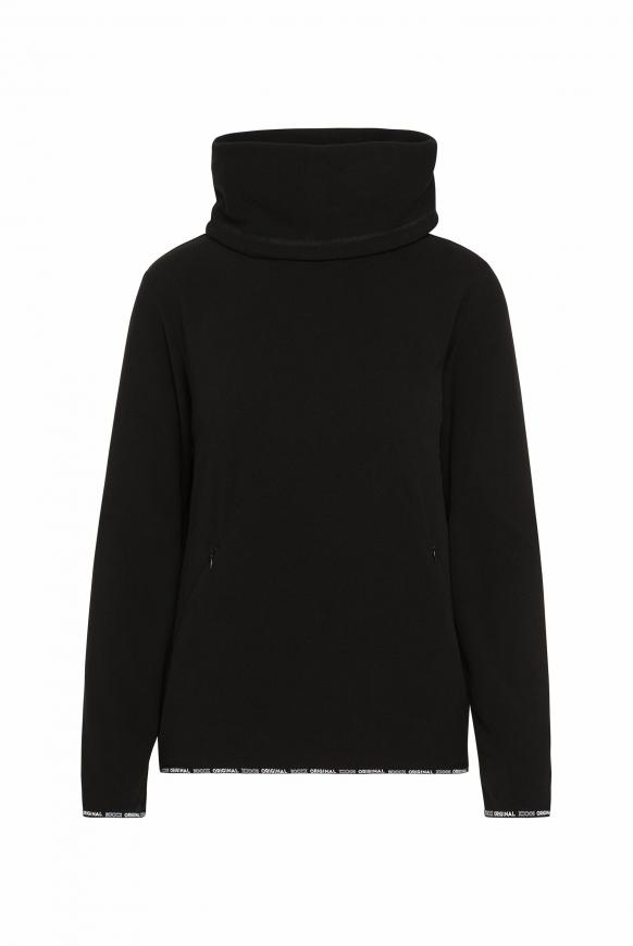 Fleece-Pullover mit Back Artwork black