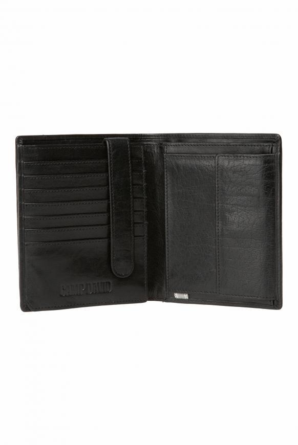 Geldbörse mit Logo-Prägung, Hochformat black