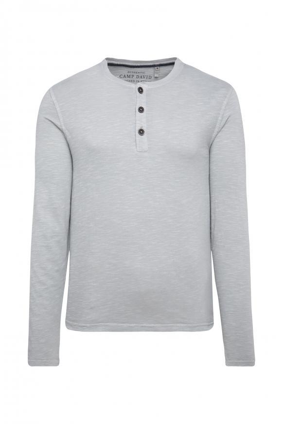 Henley-Langarmshirt aus Flammgarn polo grey