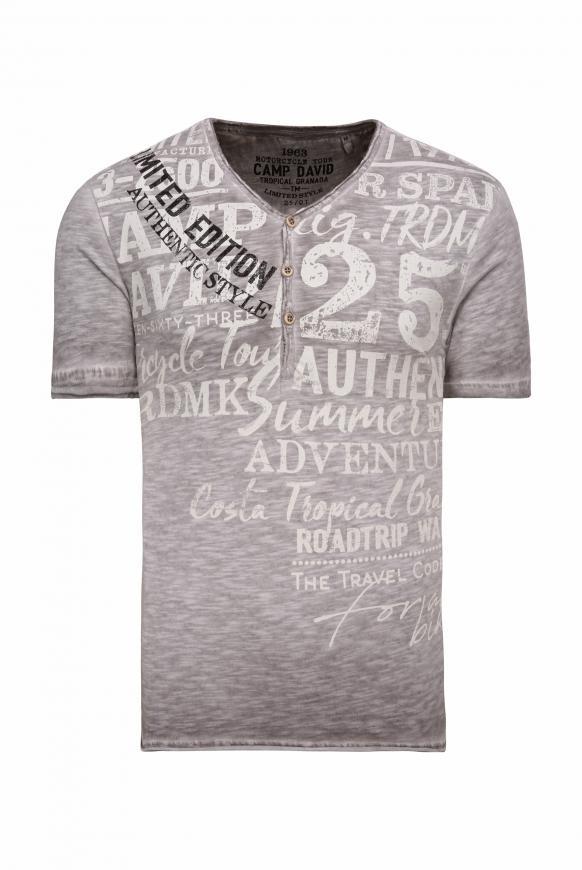 Henley-Shirt im Vintage Look mit Print shadow