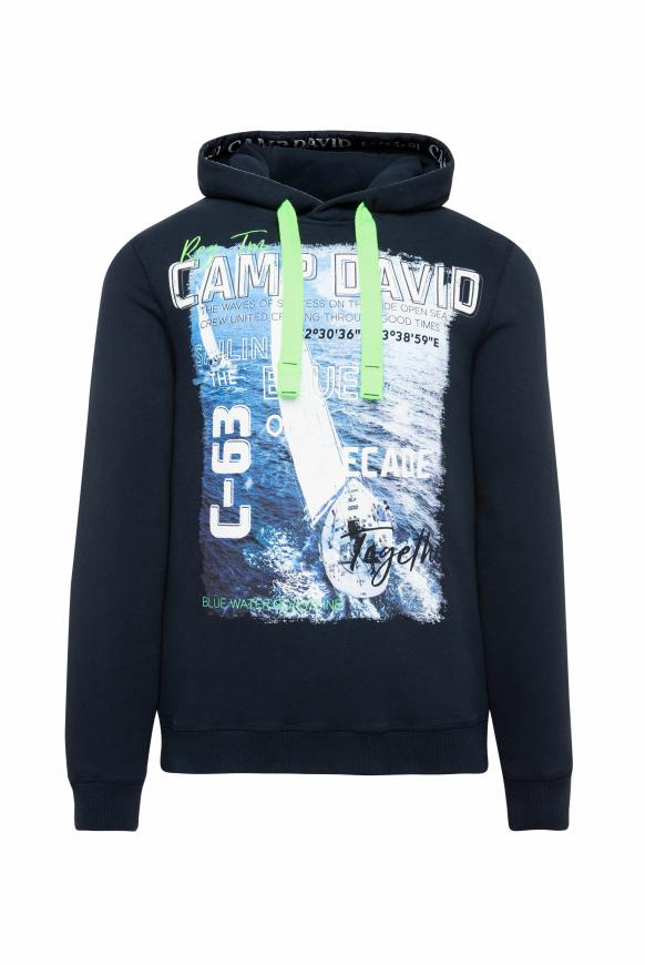 Hoodie mit Special Photoprints blue navy
