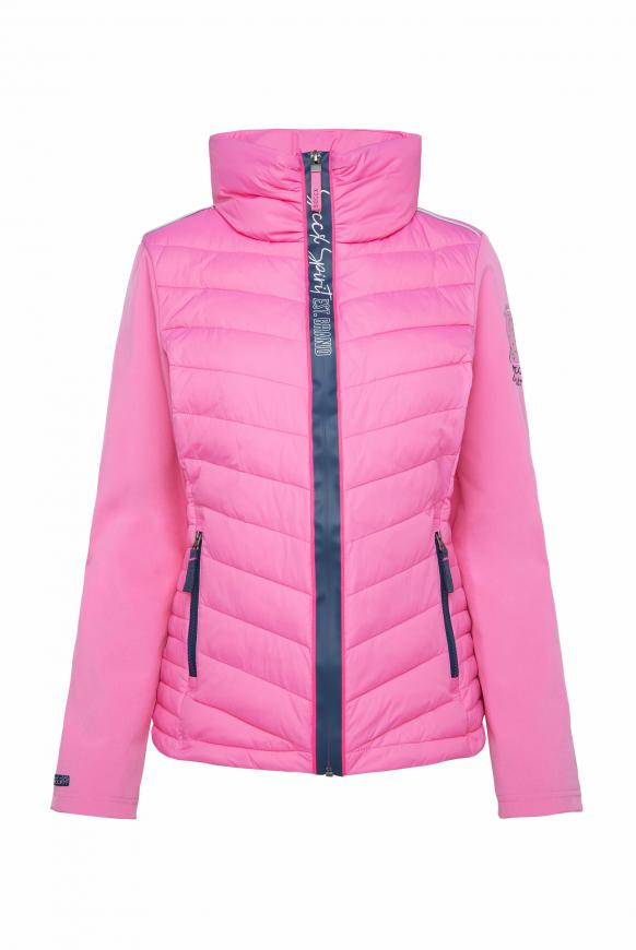 Jacke im Materialmix mit Kapuze pink lemonade
