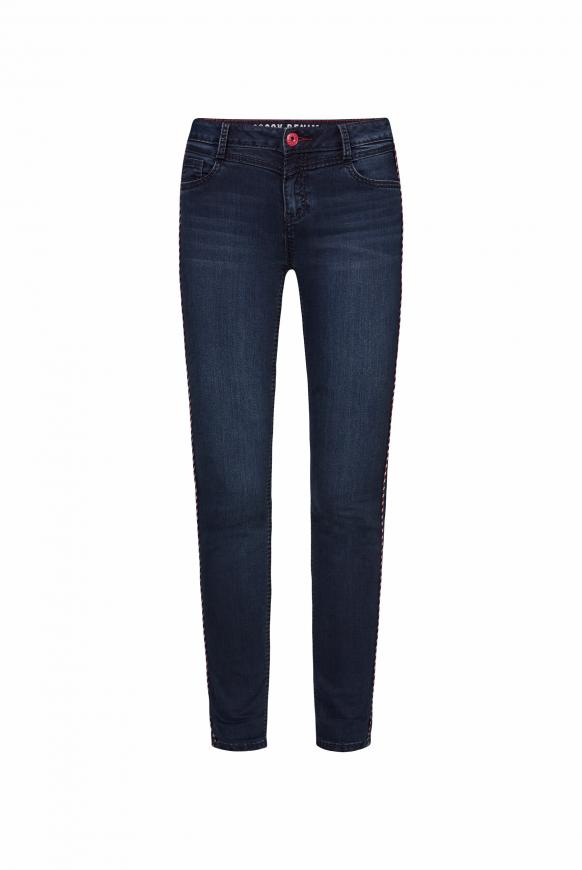 Jeans CH:EA mit Piping und Sattelnaht blue black used