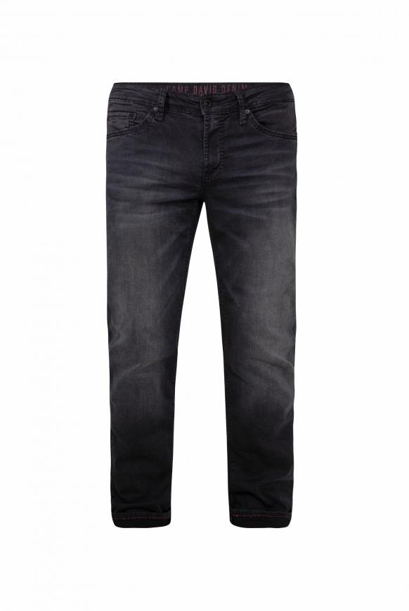 Jeans NE:SO mit Used-Optik black used