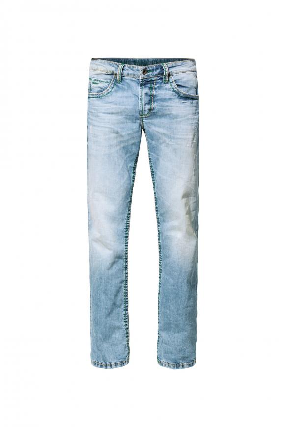Jeans NI:CO im Vintage Look mit breiten Nähten light vintage used