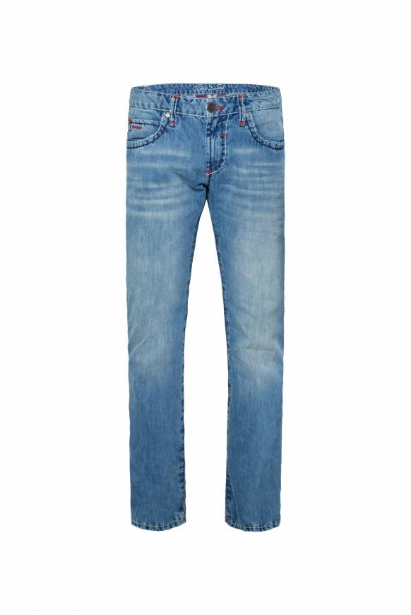 Jeans NI:CO mit Kontrastriegel Regular Fit stone used