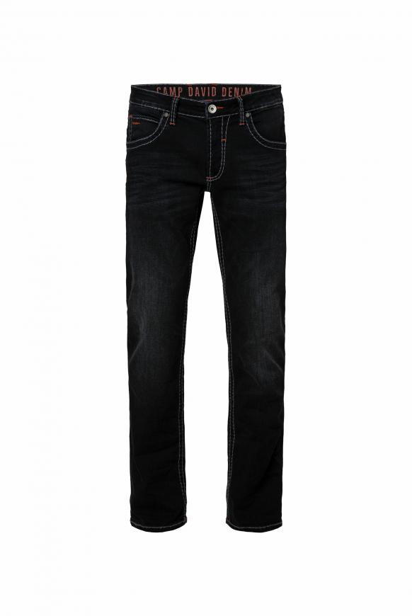 Jeans NI:CO mit Used-Optik und Kontrast-Details anthra used
