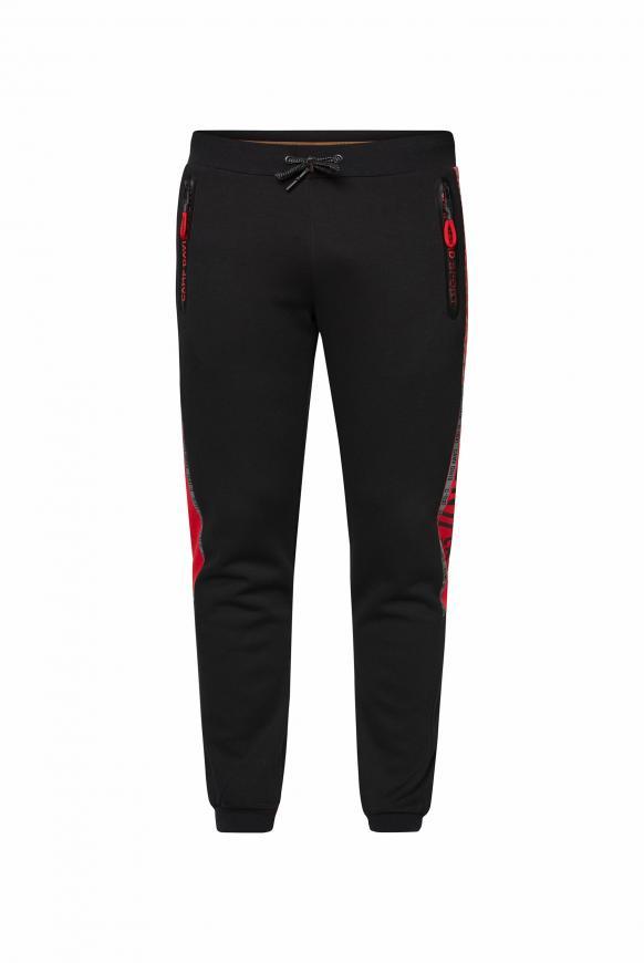 Jogginghose mit Tapes und Colour-Detail black