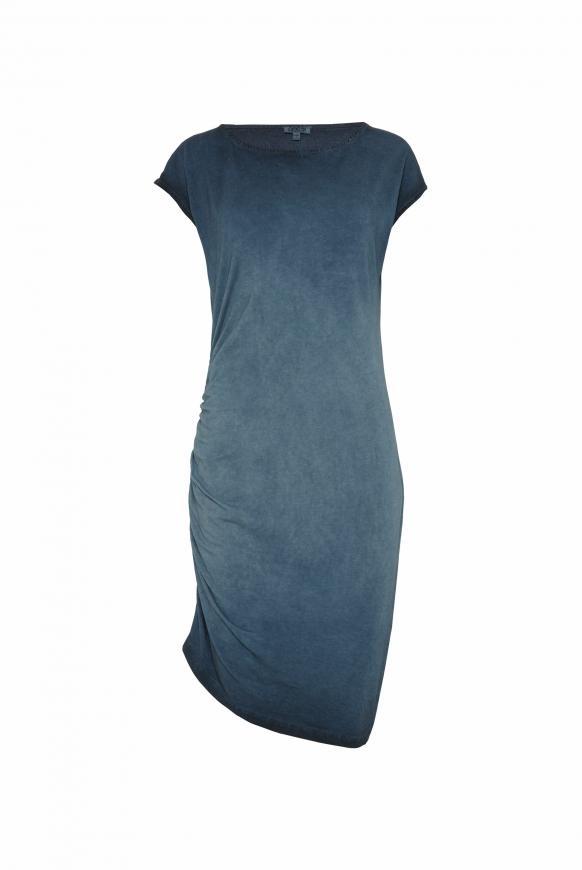 Kleid mit seitlicher Raffung und Rücken-Print blue navy