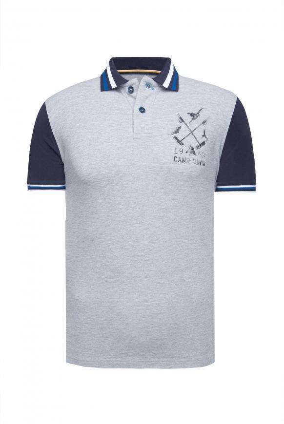 Kurzärmliges Poloshirt aus Pikee polo grey