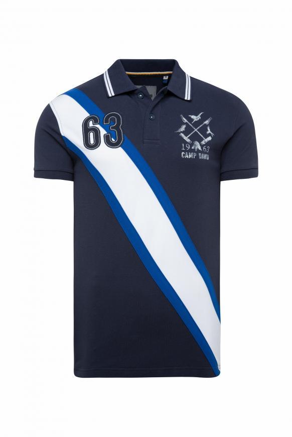 Kurzärmliges Poloshirt aus Pikee absolute blue