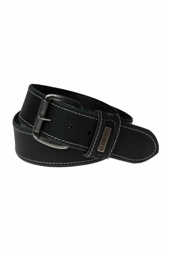 Ledergürtel black
