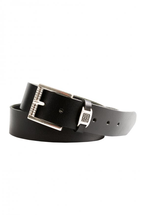 Ledergürtel im Used Look black
