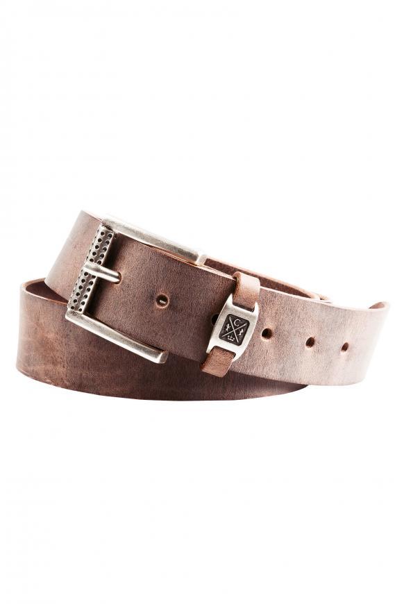 Ledergürtel im Used Look brown