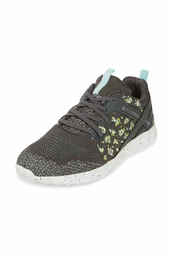 Leichter Sneaker mit Strick-Struktur asphalt