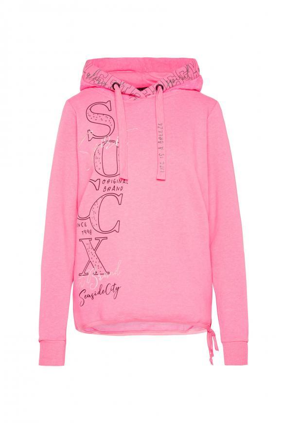 Logo Hoodie mit Kapuze im Sherpa-Look knockout pink