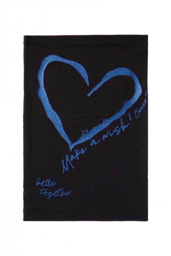 Loop-Schal mit Artwork black