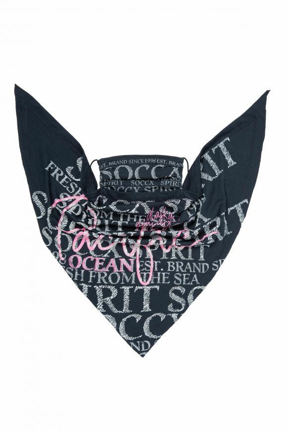 Maske mit Triangle-Tuch und Logo Artwork blue navy