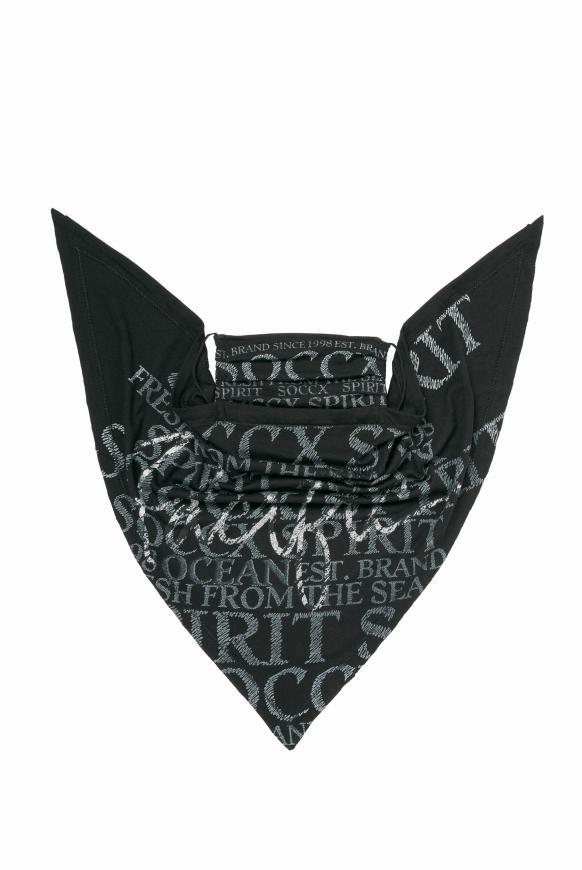 Maske mit Triangle-Tuch und Logo Artwork black