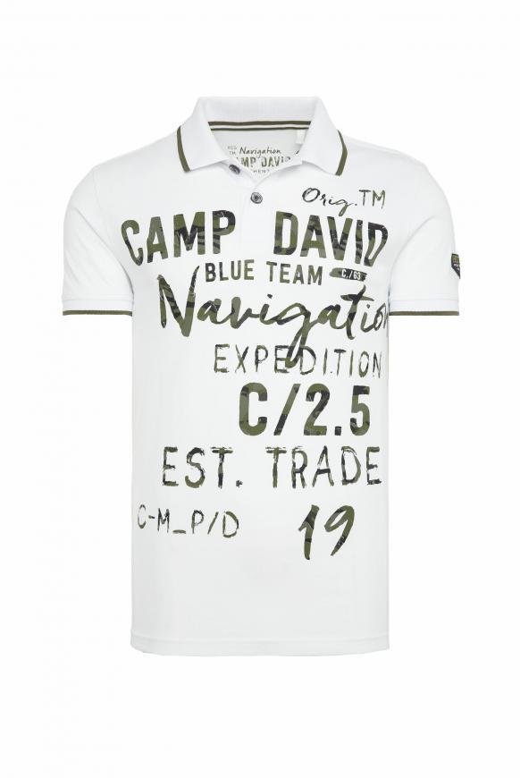 Poloshirt mit Photoprint Artwork opticwhite