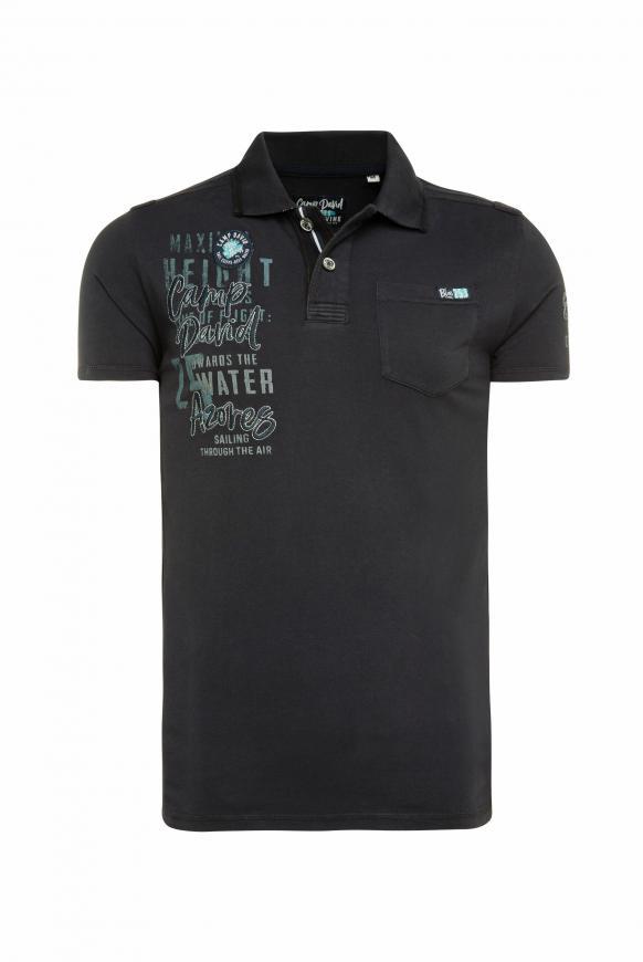 Poloshirt mit Tapes, Tasche und Artworks blue navy