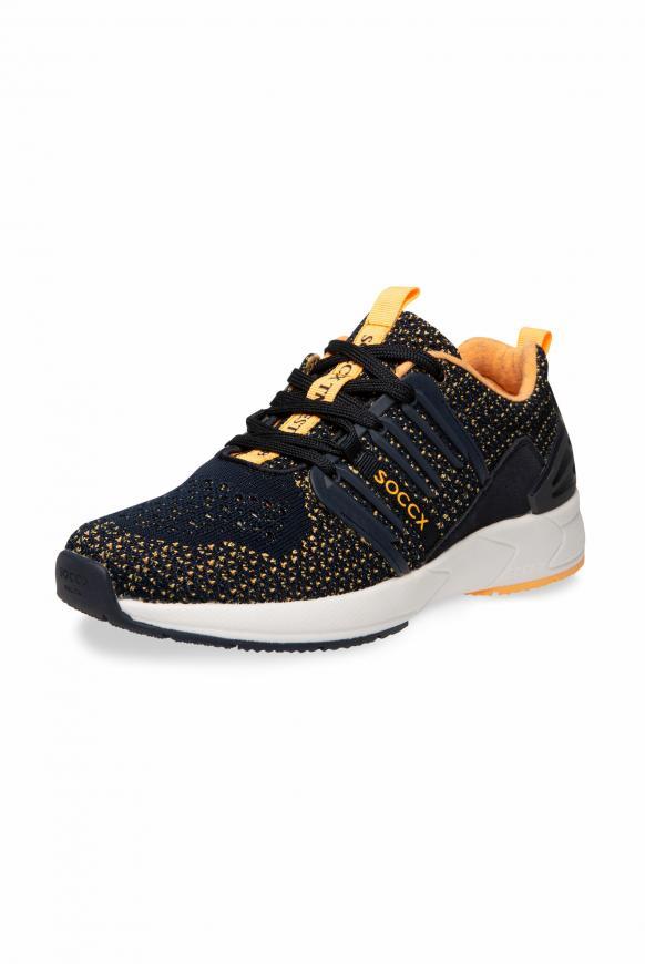 Premium Sneaker mit Strick-Struktur horizon navy