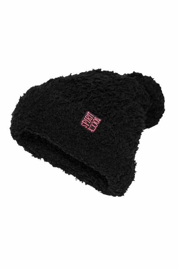 Pudelmütze in Sherpa-Optik black