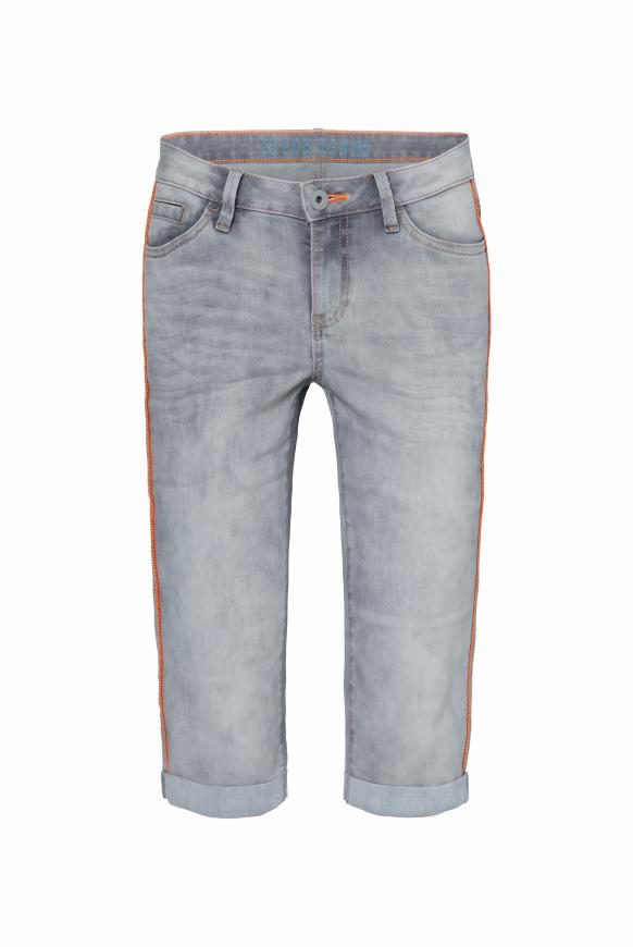RO:MY Jeans Bermuda mit Neon-Piping silver grey