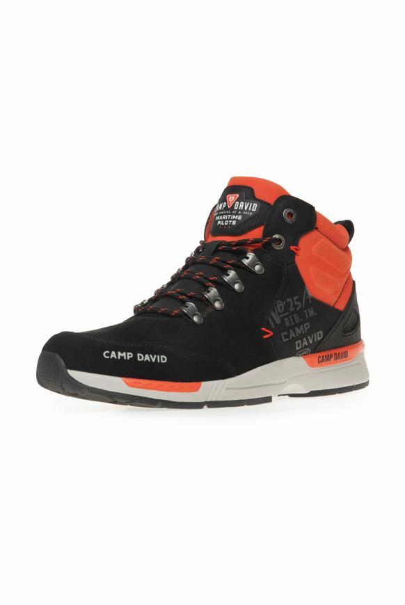 Robuster Sneaker in Wanderschuh-Optik black