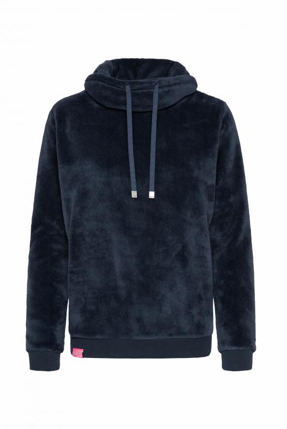 Sherpamix-Sweatshirt mit Rücken-Artwork nautic navy