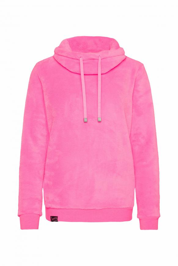 Sherpamix-Sweatshirt mit Rücken-Artwork knockout pink