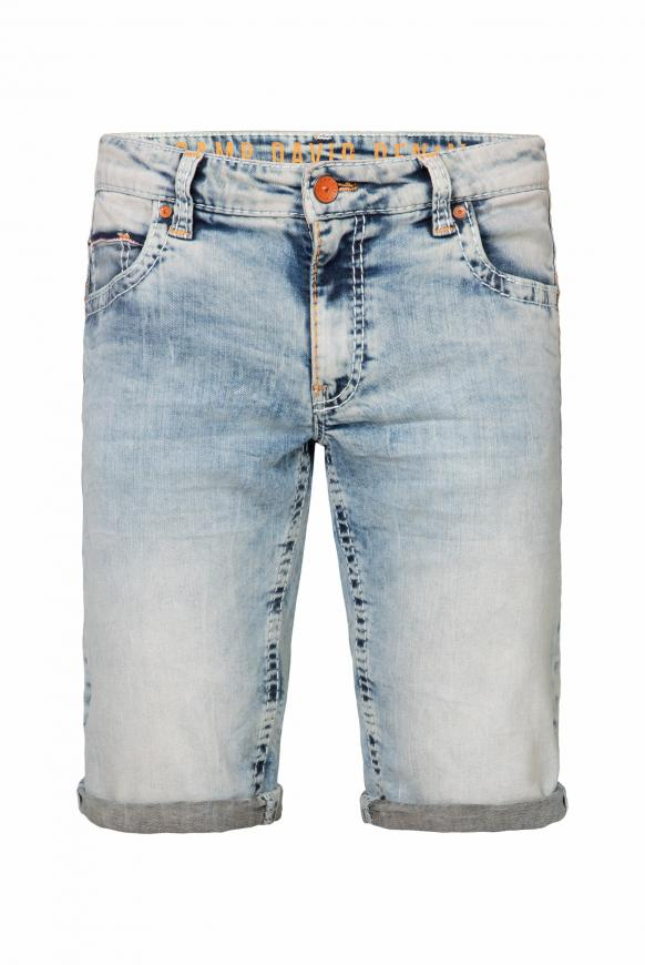 Skater Jeans CO:NO mit Bleaching-Effekten light vintage used
