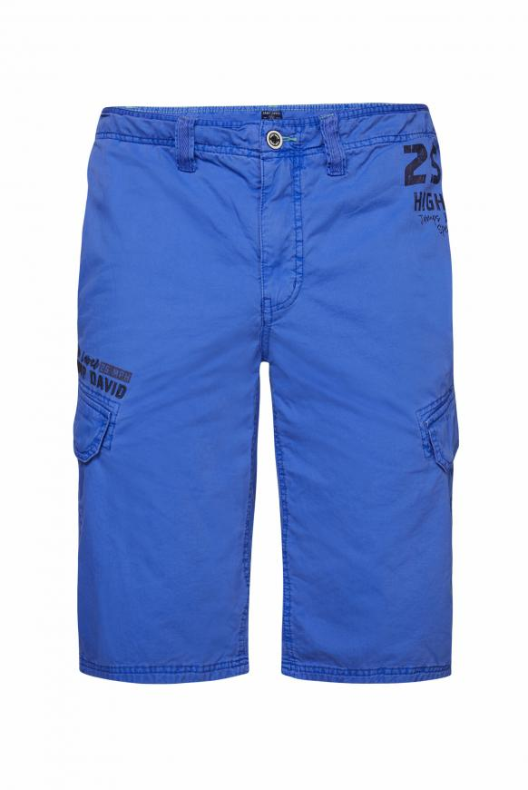 Stone Washed Skater Bermuda mit Seitentapes action blue