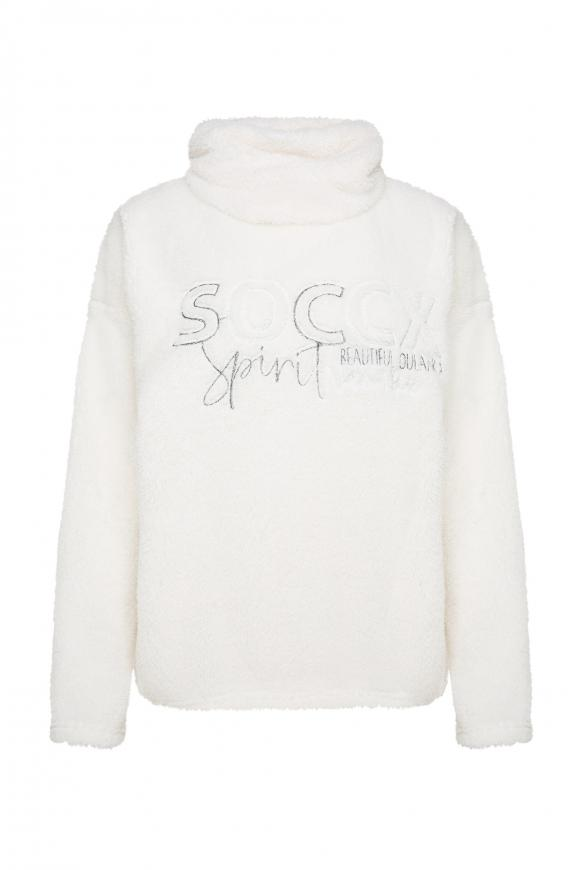 Sweatshirt aus Sherpa-Fleece snow white