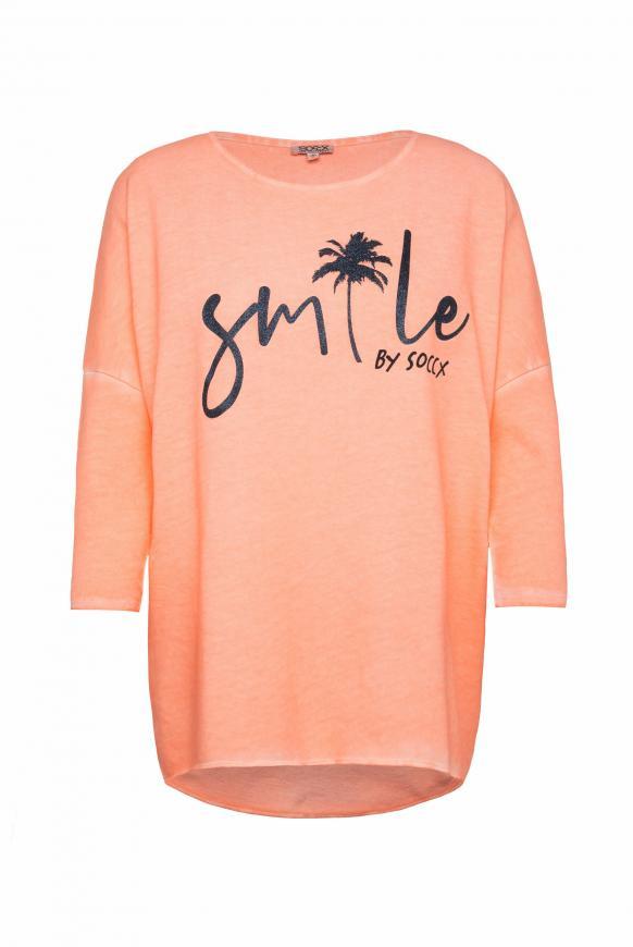 Sweatshirt mit 3/4-Arm und Artwork spicy orange