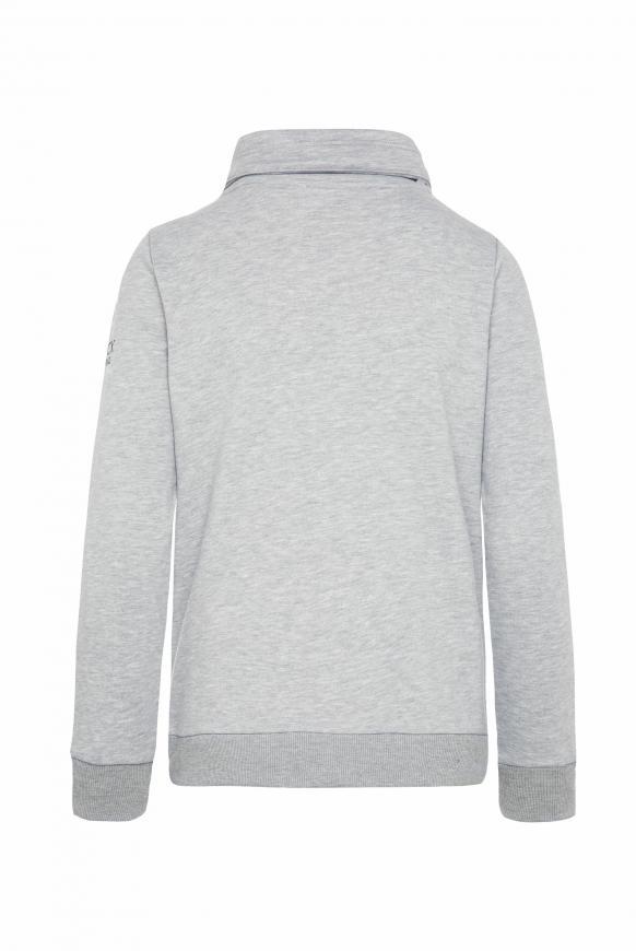 Sweatshirt mit hohem Kragen und Puff Print grey melange