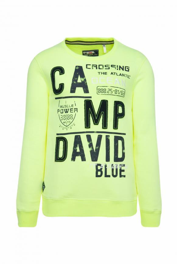 Sweatshirt mit Logo-Design neon lime