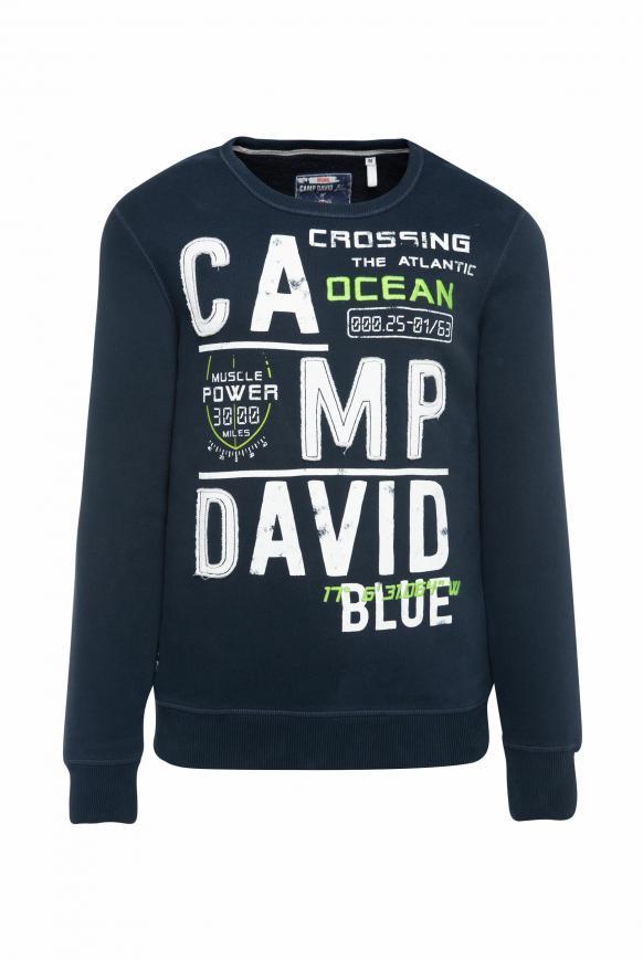 Sweatshirt mit Logo-Design blue navy