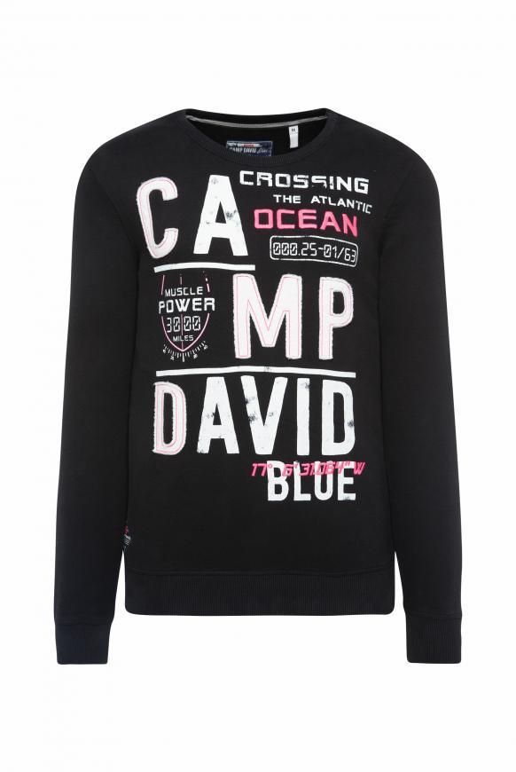 Sweatshirt mit Logo-Design black
