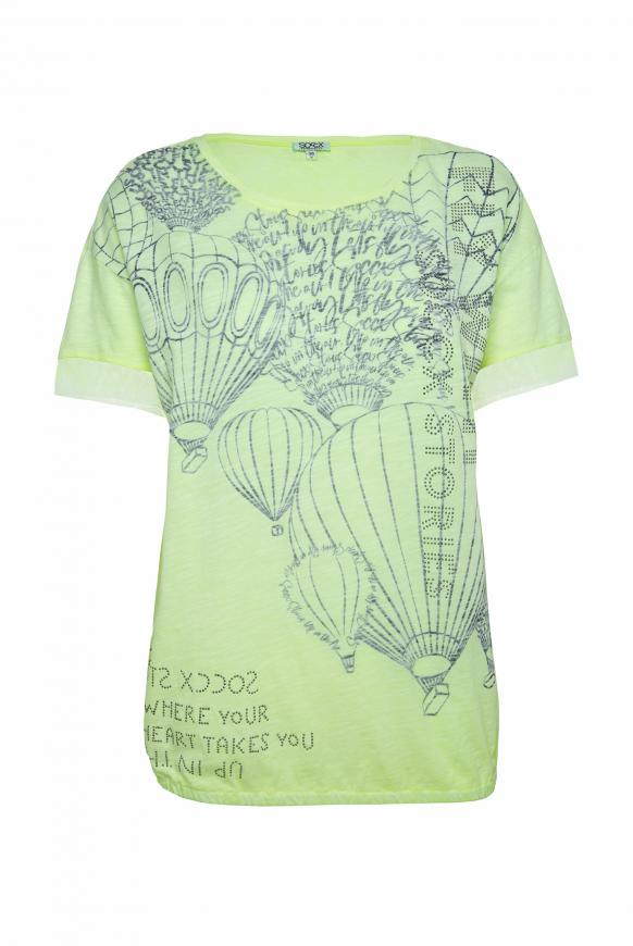 T-Shirt Loose Fit mit Artwork summer lime