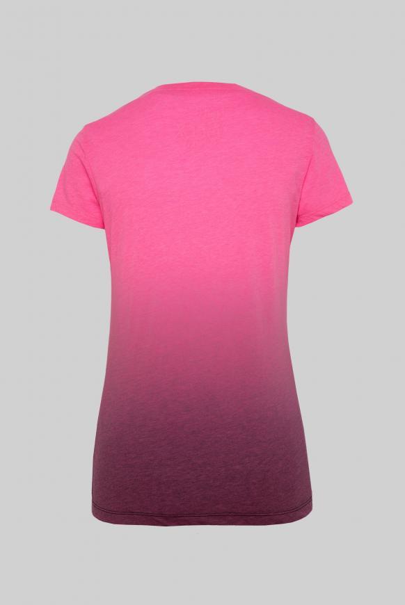 T-Shirt mit Farbverlauf und Print-Artwork paradise pink